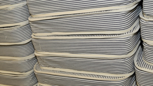 close up of mattresses manufactured at LC