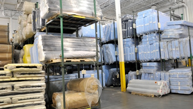 mattresses and their individual parts in stacks