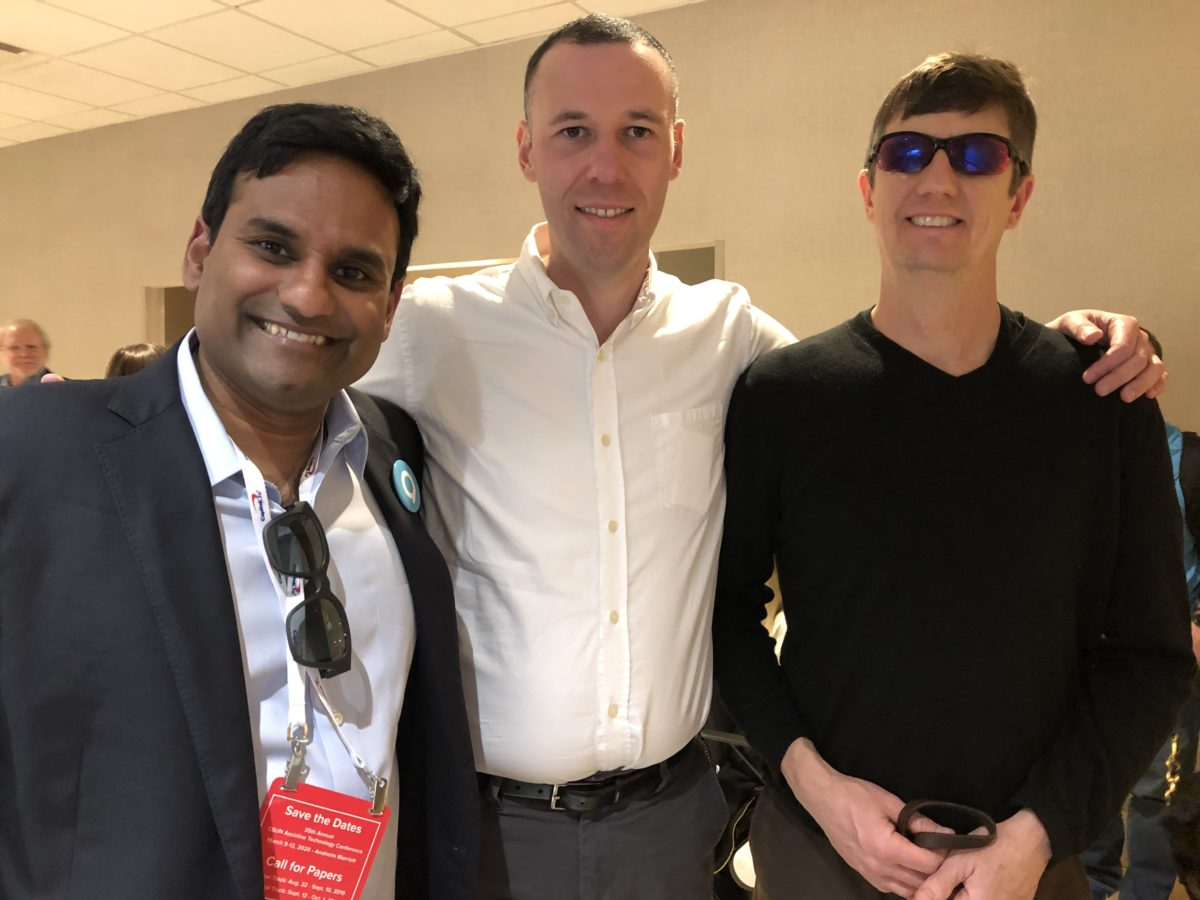 John posing with ed summers and jesse sookne at CSUN 2019